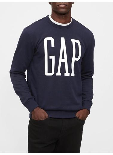 Gap Gap Logo Yuvarlak Yaka Sweatshirt Lacivert